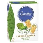 Mini Crepes with Pesto, Gavottes